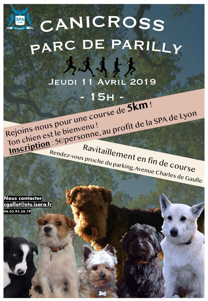 Affiche canicross Parilly 11/04/2019