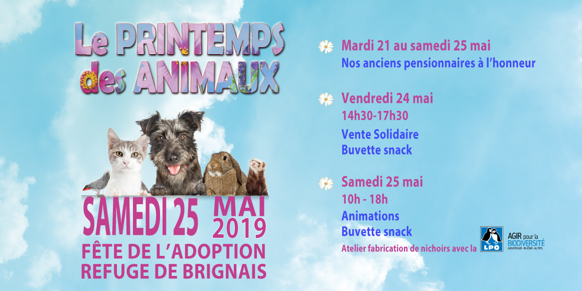 Du 21 Au 25 Mai Le Refuge De Brignais Fete L Adoption Spa De